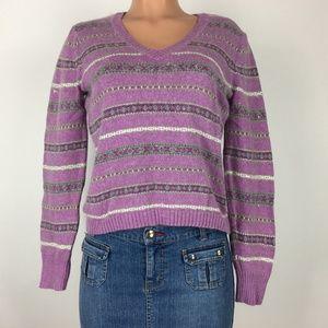 St. John's Bay Size M Purple Long Sleeve Sweater